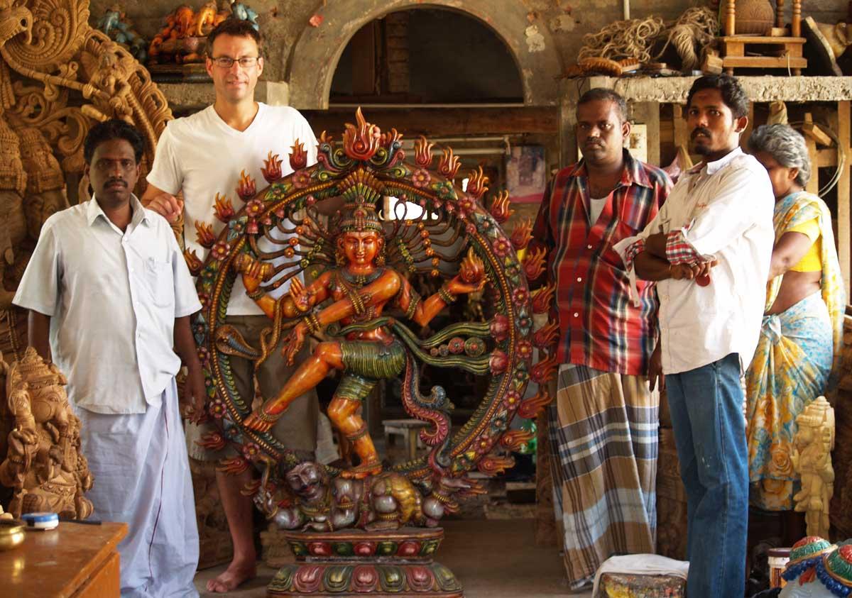 Natarajan and his family