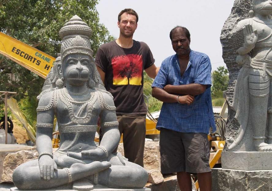 Large Hanuman statue