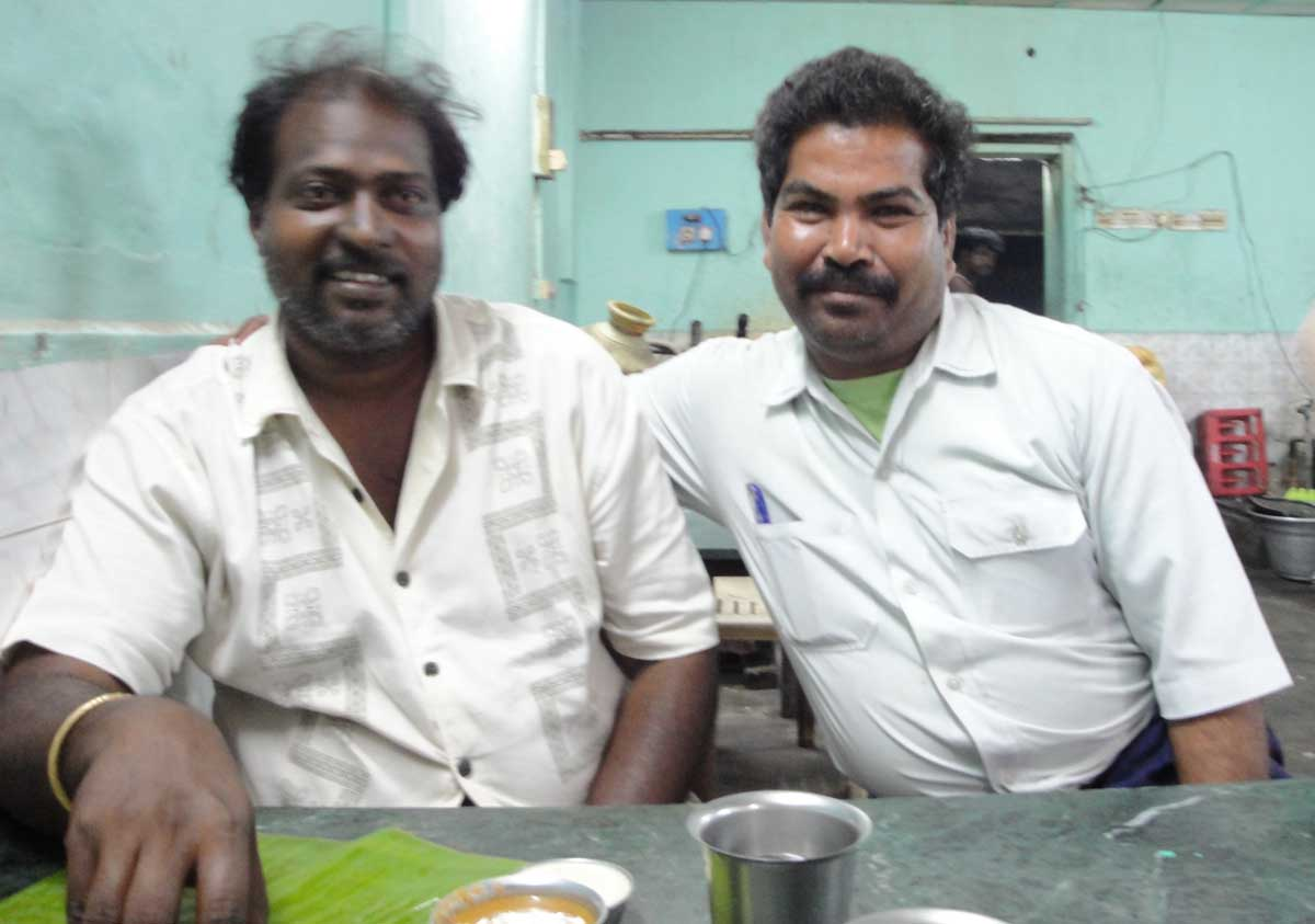 Balan with Guru on the right of the picture