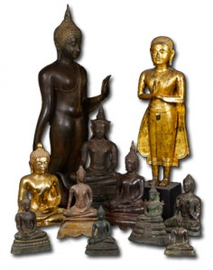 Statues from Thailand of Lord Buddha