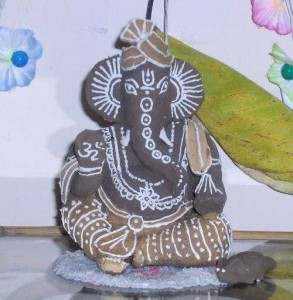 Ganesh made of clay