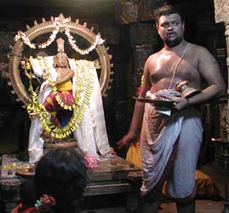 Nataraja in Puja ceremony