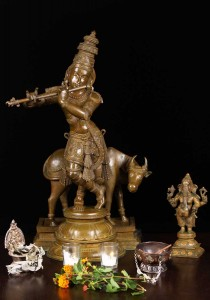 krishna and Ganesh statue