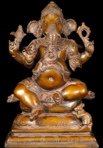 Brass Statue of Hindu God Ganesh