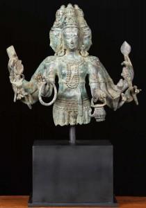 Brass Hindu God Brahma Statue