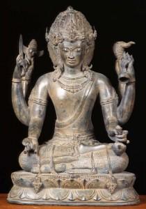HIndu God Dattatreya statue