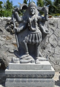 fierce form of Devi hindu goddess Kali
