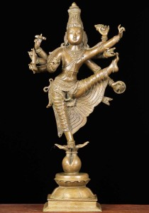 Bronze Vishnu statue as the brahimn, dwarf avatar Vamana