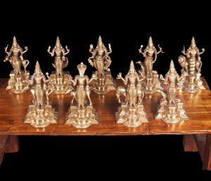 Bronze Navagraha set of Statues