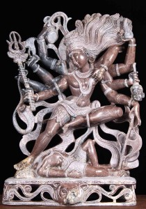 Marble statue of Shiva killing Yama