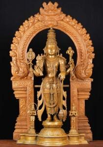 Bronze Vsihnu statue, Hanuman and Garuda