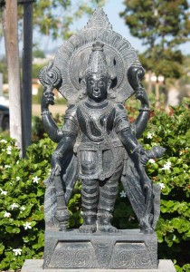 Marble Garden Vishnu Statue