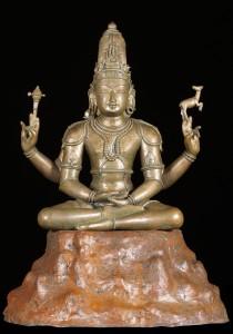 Bronze Meditating Shiva Statue