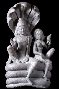 Vishnu and Lakshmi statue marble