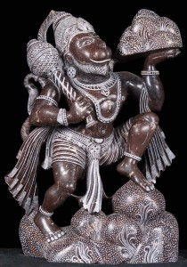Hanuman statue Carrying the mountain of herbs