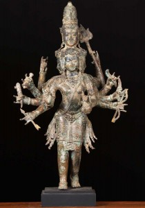 6 faced Murugan statue, Brass Arumagam Statue