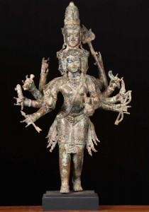 6 faced Murugan statue, Brass Arumagam Statue