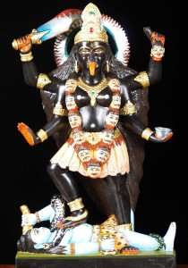 Black Marble Kali statue