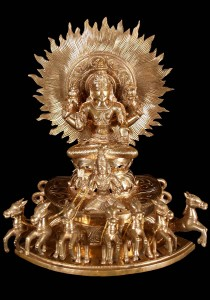 Surya Bronze statue
