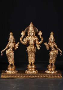Surya with consorts