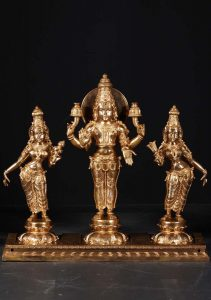 Surya with consorts