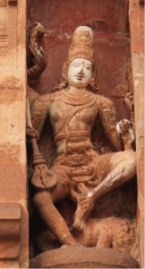 Sculpture of Kala Samhara Shiva from Tanjore Temple, resembling the bronze icon at Thirukkadaiyur