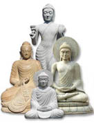 Garden Stone Buddha Statue for sale