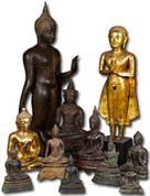 Thai Brass Buddha Statues for sale