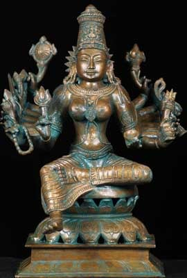 Indian Bronze Statues cleaned of Verde Gris with coconut oil