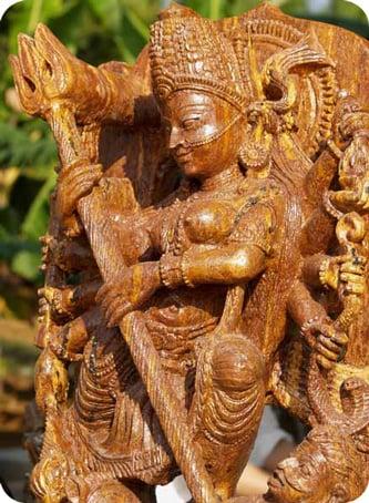 Durga derrota de la Estatua de piedra arenisca Demonio Búfalo