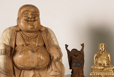 Fat and Happy Buddha of wealth statues for sale