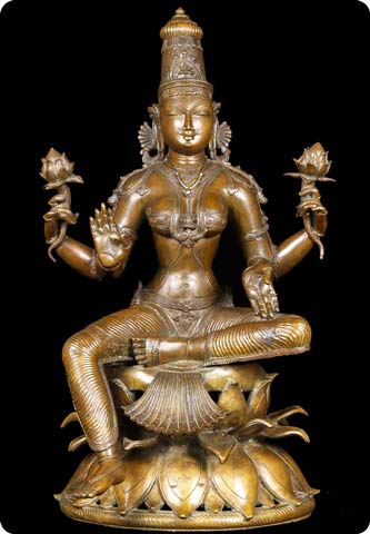 Stunning Bronze statue of the Hindu Goddess Lakshmi