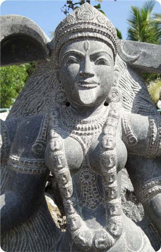Parvati as Kali