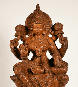 Lakshmi Hindu Goddess of wealth Statues for sale