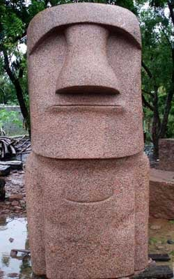 Big Easter Island Moai Head Statue