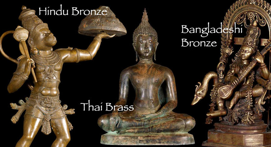 Bronze Statues at Lotus Sculpture