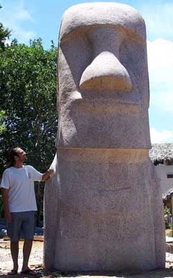 Large Moai Head Statue