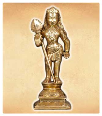 Bronze Hindu God Murugan Statue