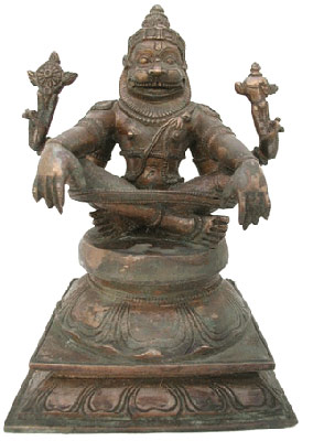 Yoga Narasimha Bronze Sculpture of Narashima