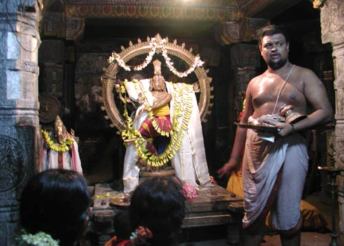 Hindu Priest Performing Puja