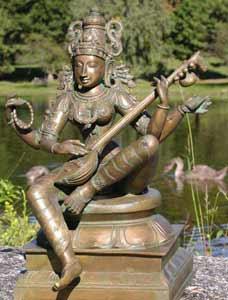 Bronze Saraswati Statue