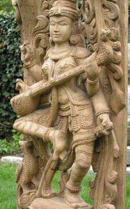 Dancing Saraswati Statue, the Hindu Goddess of wisdom