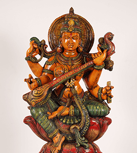 Shop for Hindu Goddess Saraswati Statues