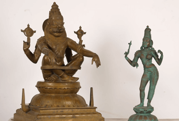 South Indian Bronze Hindu statues for sale