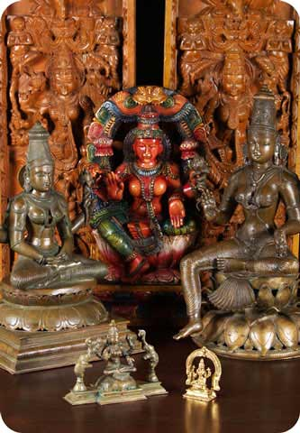 Statues of the Hindu Goddess Lakshmi
