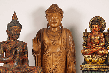 Wooden Buddha Carvings for sale