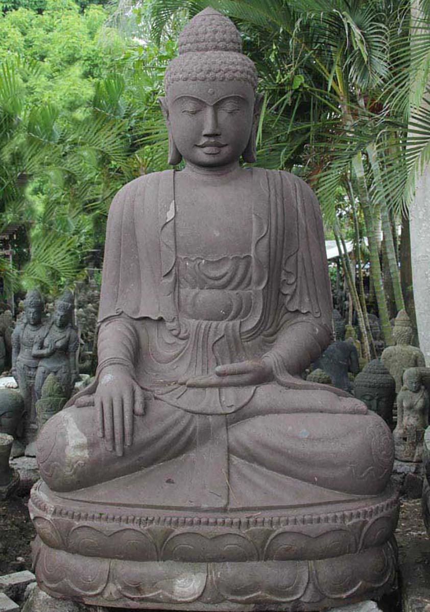 Huge Earth Touching Garden Buddha Statue 88 56ls53 Hindu Gods Buddha Statues