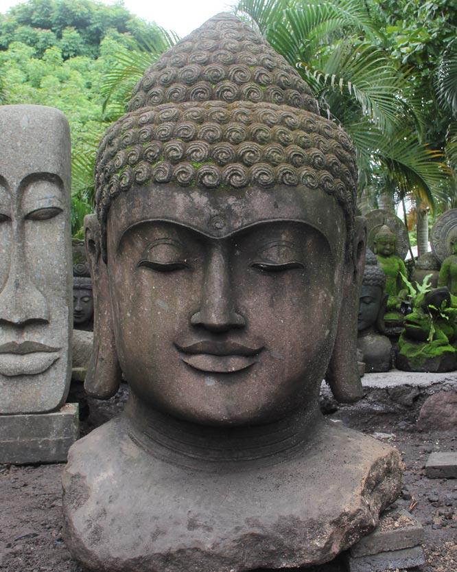Custom large garden buddha bust 59 56ls55 hindu gods for Large garden rocks for sale