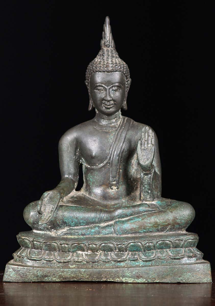 Sold Vitarka Amp Abhaya Mudra Buddha Statue 9 Quot 82t83
