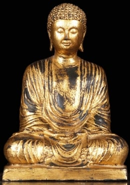 Meditating Japanese Buddha in Full Robes 15